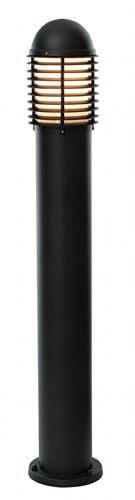 Matt black & opal Polycarbonate Bollard CH200E27BK by Endon